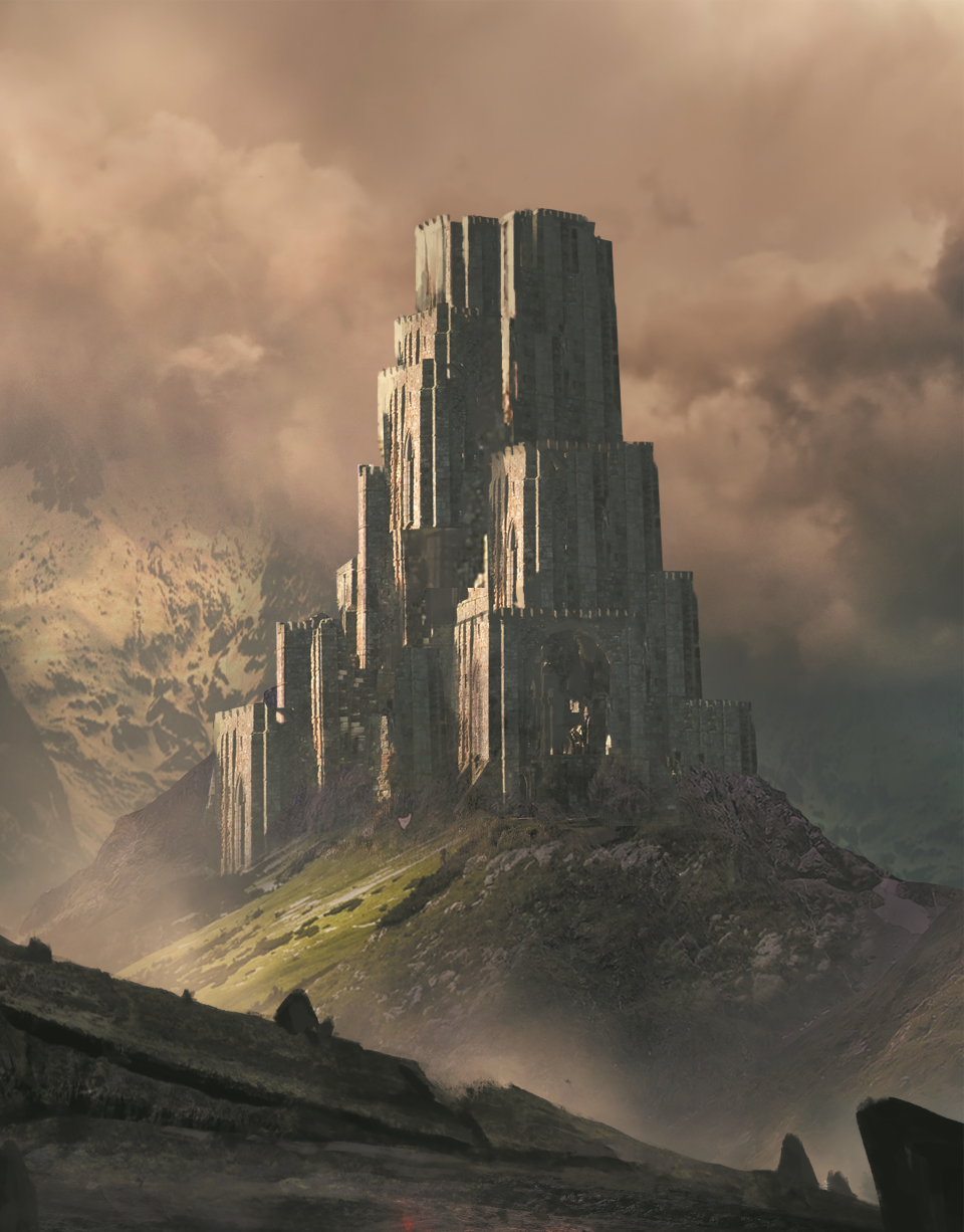 A tower on a hill by Jeff Brown